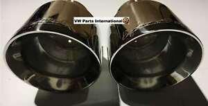VW Golf MK6 GTI R Milltek Sport Exhaust Polished GT100 Tails Tips Trims Escapes