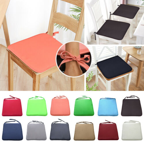 1-4Pc Tie On Dining Chair Cushions Seat Pads Outdoor Patio Foam Removable LOCA