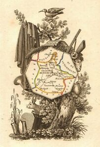 Perrot 1823 Old Products Hot Sale Scarce Antique Map/carte By A.m Adroit Ardennes Département