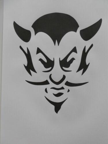 Schablone Teufel auf A4
