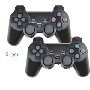 1Pair for PS2 Black Gamepad Game Controller Joy 2.4G Joystick Joypad Wireless