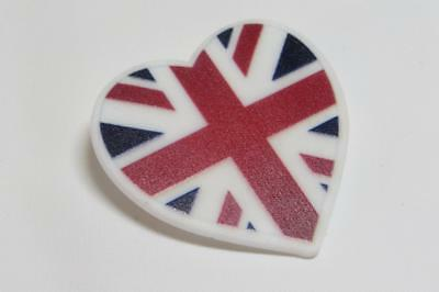 Union Jack In Un Cuore Sophisticated Technologies Pins & Brooches Diplomatic Cg3785 Acrilico Spilla
