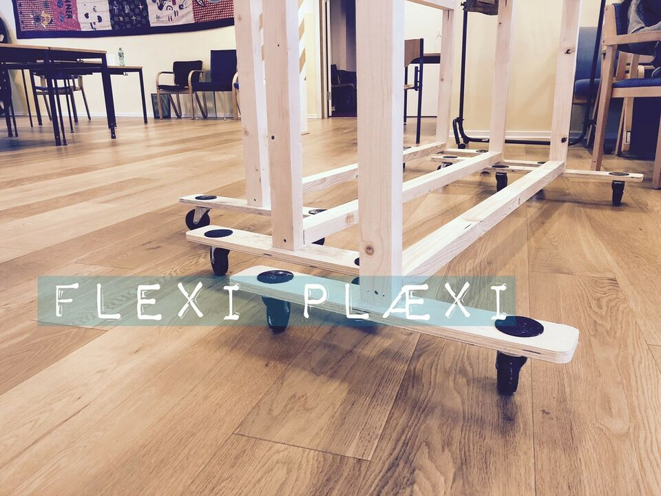 FLEXI PLÆXI Skærmvæg 3mm plexiglas på hjul