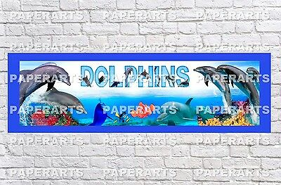 Personalized Customized Miami Dolphins Name Wall Poster Sport Banner with Frame