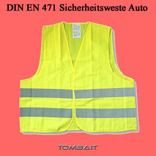 Gilet di sicurezza Giallo Sicurezza Gilet i guasti Gilet Giub taglia unica DIN EN 471