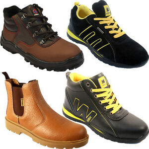 NEW-MEN-SAFETY-TRAINERS-SHOES-BOOT-WORK-STEEL-TOE-CAP-ANKLE-SIZE-4-13UK-LADIES