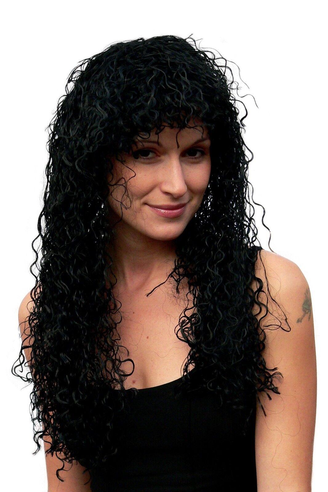 Wig Ladies Halloween Carnival Black Long Curls Curly Caribbean Latina Afro