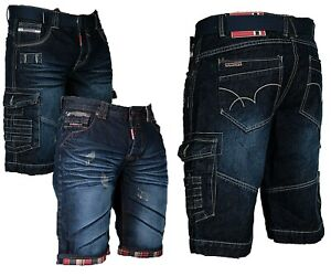 geographical-norway-Herren-Cargo-Shorts-kurze-hose-Bermuda-knielang-Jeans-short