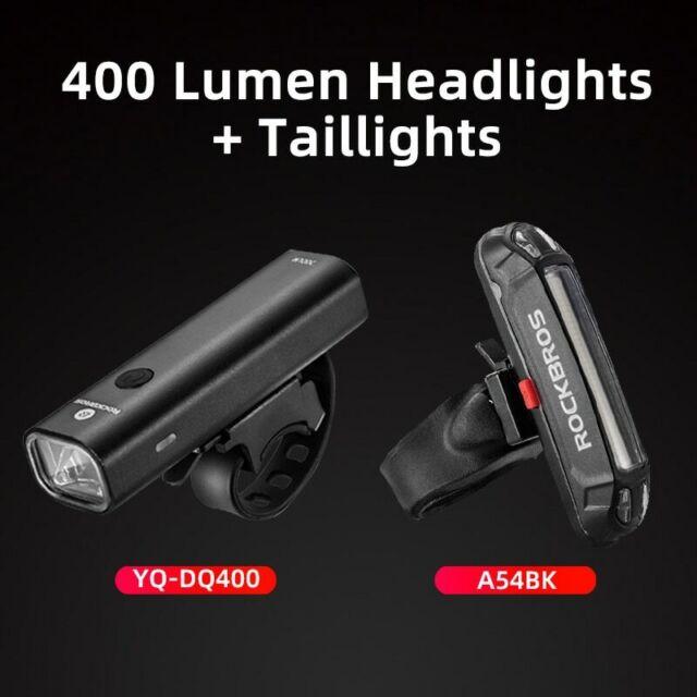 RockBros 400 Lumen Bicycle Head Front Light USB Rechargeable LED Flashlight Lamp