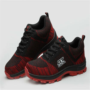 Men/'s Safety Shoes Steel Toe Work Boots Breathable Hiking Climbing Sneakers