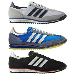 adidas-ORIGINALS-MEN-039-S-SL-72-VINTAGE-TRAINERS-BLACK-NAVY-WHITE-SNEAKERS-SHOES