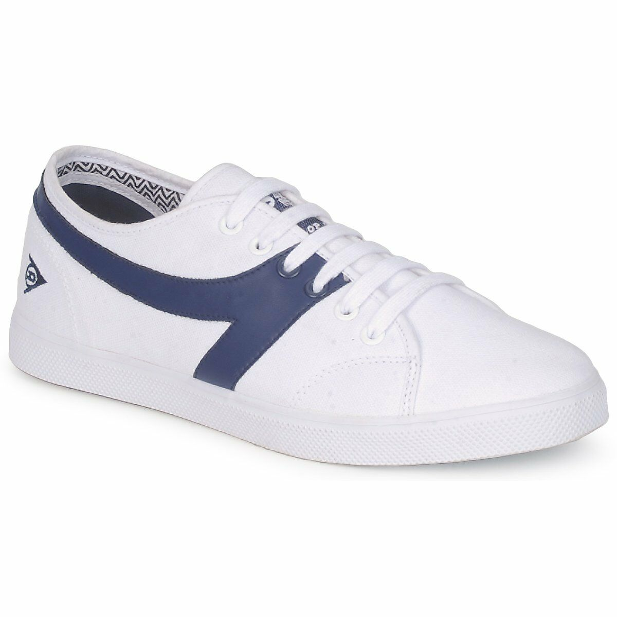 Dunlop shoes Men's 1987 Canvas Trainer shoes Dunlop Chevron White/Navy 510-020012 fc4700
