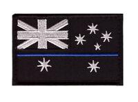 Australian Flag Police Thin Blue Line Swat Morale Au Flag Hook Patch