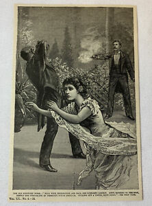 1885-magazine-engraving-OLD-KENTUCKY-HOME-Man-Shoots-Woman-039-s-Assailant