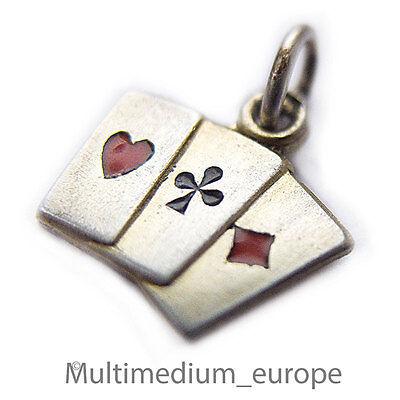 Silber Anhänger Spielkarten Charms Silver Pendant Deck Playing Cards ???????????????????? Angenehm Bis Zum Gaumen