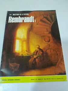 Rembrandt-Maestros-de-la-Pintura-Libro-20-pags-1973-Espanol
