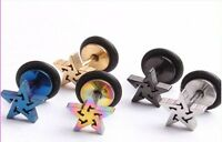 16g Star Cartilage Helix Tragus Earrings Body Jewelry Stainless Steel Piercing