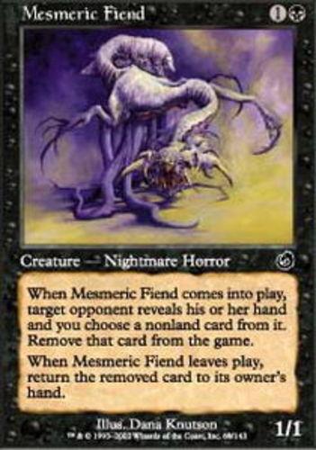 4x Mesmeric Fiend MTG Torment NM Magic Regular