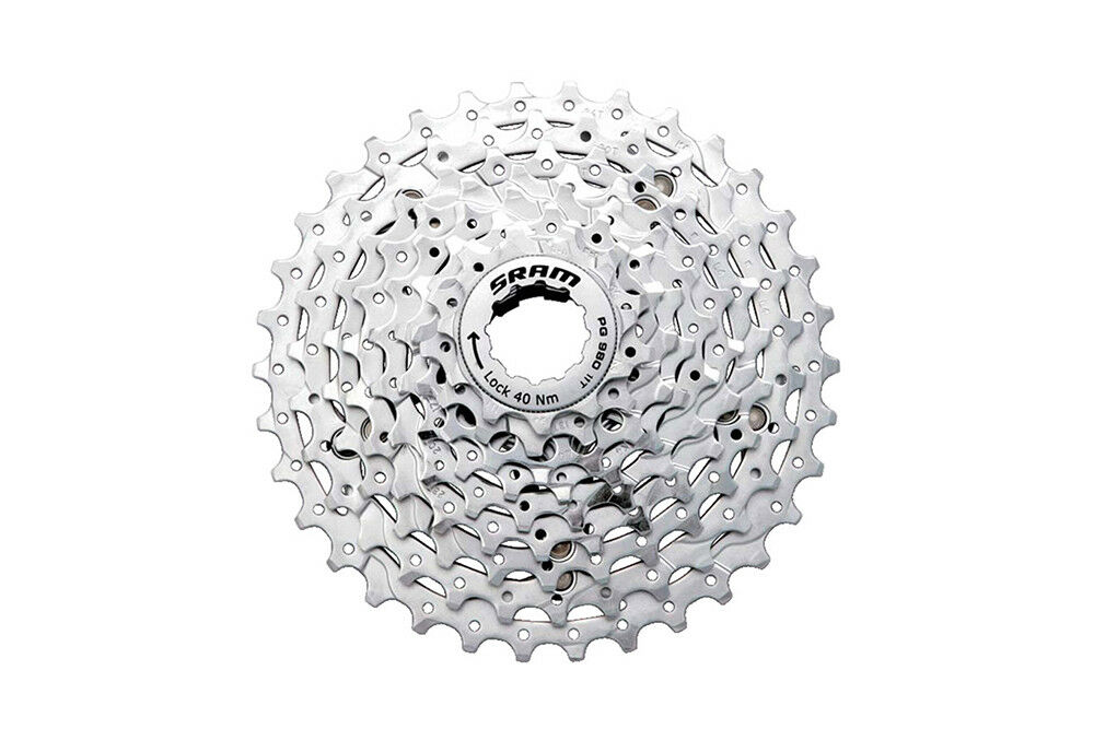 SRAM PG-980 9 Speed 11-32   11-34T Powerglide 2 Bike Cycle Cassette
