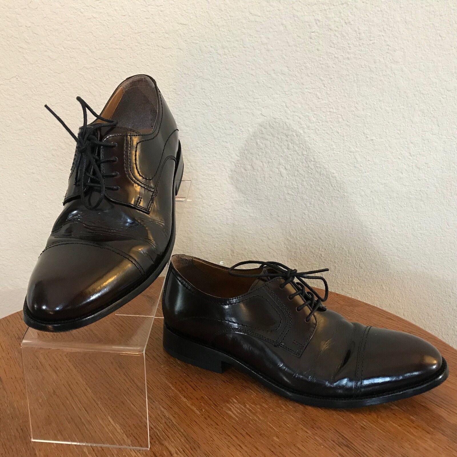 BOSTONIAN Mens Black Leather Cap Toe Dress (Medium) Shoes Size 9 D (Medium) Dress ed2ba0