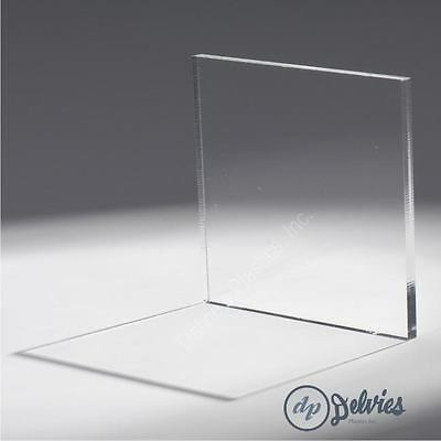 "1//8/"" x 12/"" x 12/"" Clear Mirror Acrylic Plexiglass Sheet"
