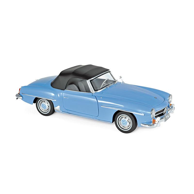 Norev 183400 mercedes - benz 190sl cabrio hellblau 1955 ma ß sticht 18 neu °