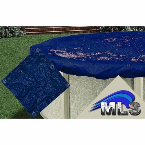 Schwimmbecken rund 3,60 m in dunkelblau Poolplane Abdeckplane für POOL