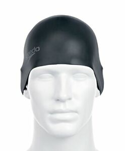 Speedo-Adult-Plain-Moulded-Silicone-Cap-Black-One-Size
