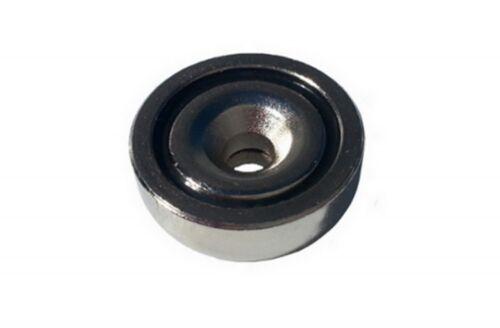 N42 48x11.5 mm MIT 8.5 mm BOHRUNG UND SENKUNG 5x SUPER NEODYM TOPF MAGNET