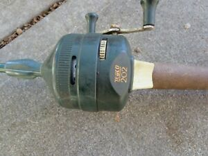 Vintage-Zebco-Combo-202-Green-Spincasting-Reel-and-Centennial-4020-Rod-U-S-A