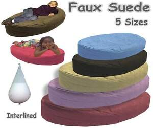 Faux-Suede-Bean-Bags-Beds-Large-Sofa-Kids-Adults-Ottoman-Settee-Lined-Filled