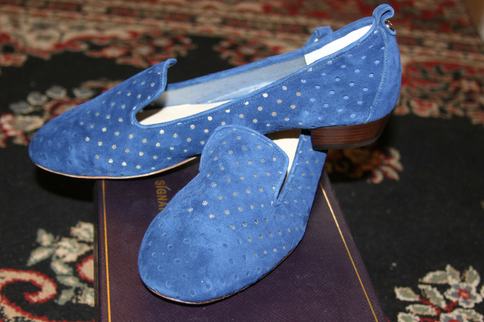 VINCE CAMUTO SIGNATURE VI-NADELLE TWILIGHT blueE blueE blueE  KIDSUEDE OXFORD SIZE 9.5M a410ad
