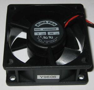 Elina-60-mm-High-Speed-Cooling-Fan-5-V-17-CFM-KDC050625M-2-Pin-Connector
