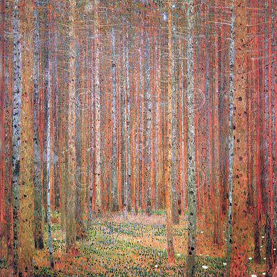 ART PRINT - Tannenwald I by Gustav Klimt Forest Tree Landscape Poster 12x12