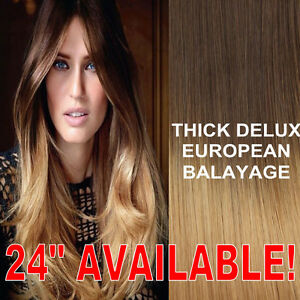 Thick dip dye 427 balayage ombre clip in remy human hair image is loading thick dip dye 4 27 balayage ombre clip pmusecretfo Gallery