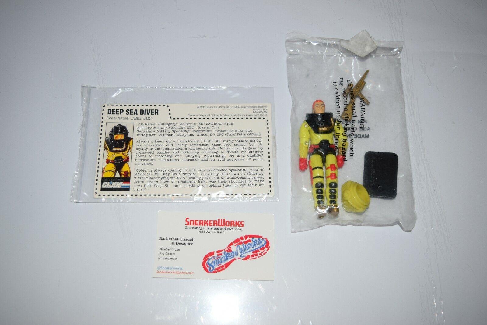New Vintage Hasbro GI Joe Deep Six Action Figure 1993 Mail-In ARAH Complete