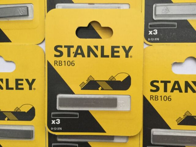 STANLEY RB106 3 X CURVED PLANE BLADES 0-12-376 STANLEY WORKS BELGIUM  CARDED
