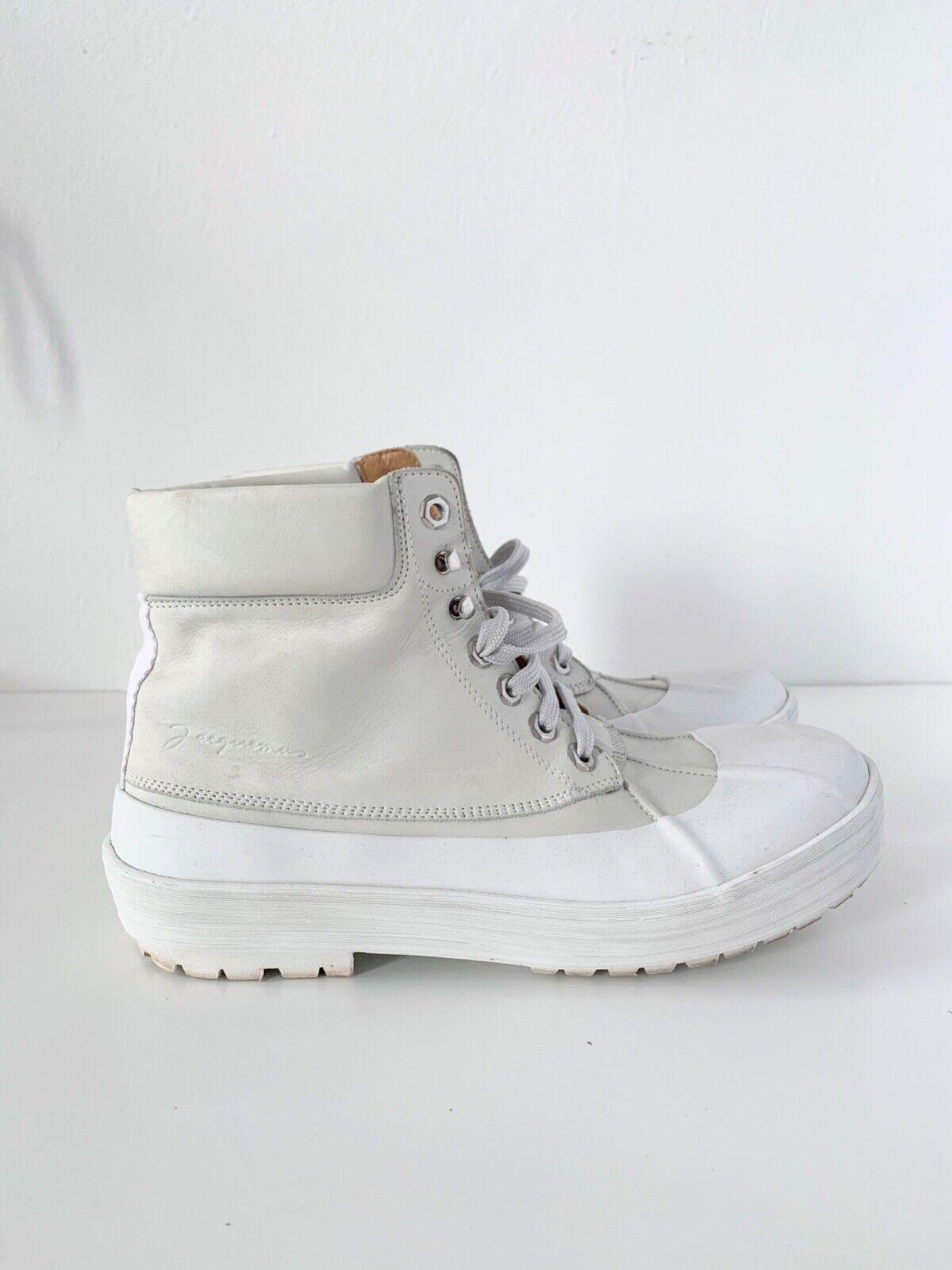 Jaquemus Les Meuniers Hautes Mens White Boots Siz… - image 1