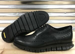 1e3034c1de9 Image is loading Cole-Haan-ZeroGrand-Wingtip-Oxfords-Shoes-All-Black-