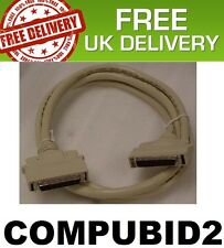 SCSI HALF PITCH MICRO-D 50PIN MALE TO MICRO-D 50PIN MALE 2 METRE FREE UK POST