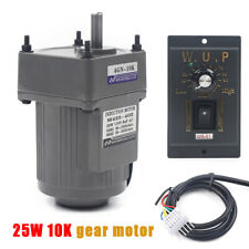 110v 25w Ac Gear Motor Electric Motor Variable Speed Controller 110 135rpm