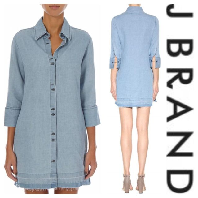 87b7966960 J BRAND Bacall Linen-blend Shirtdress L for sale online