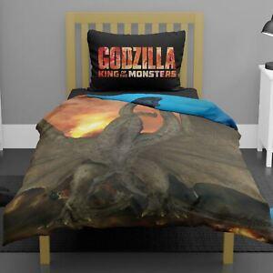 Godzilla-Versus-Ghidorah-Set-Housse-de-Couette-Simple-Garcons-2-IN-1-Design