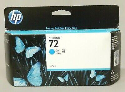 NEW HP #72 Cyan Ink Cartridge C9371A 130ml GENUINE