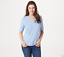 Denim-amp-Co-Essentials-Knit-Top-with-Forward-Seam-Detail-Blue-Haze-Large thumbnail 1