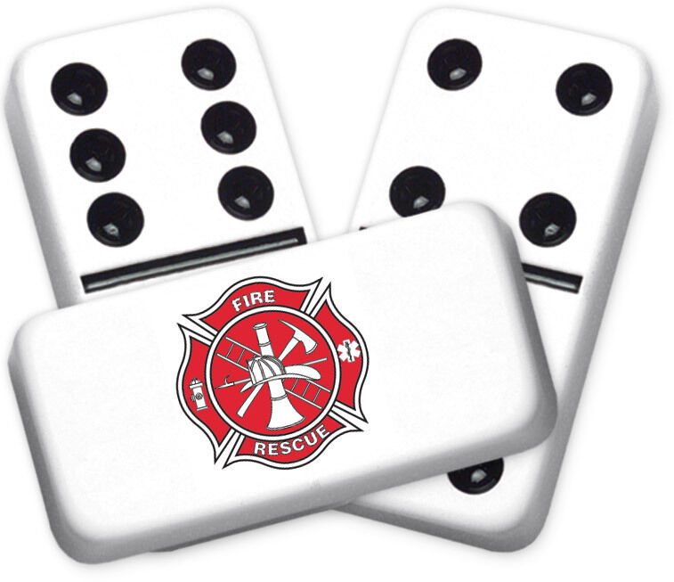 Career Series Fire Design Double six Professional Dimensione Dominoes