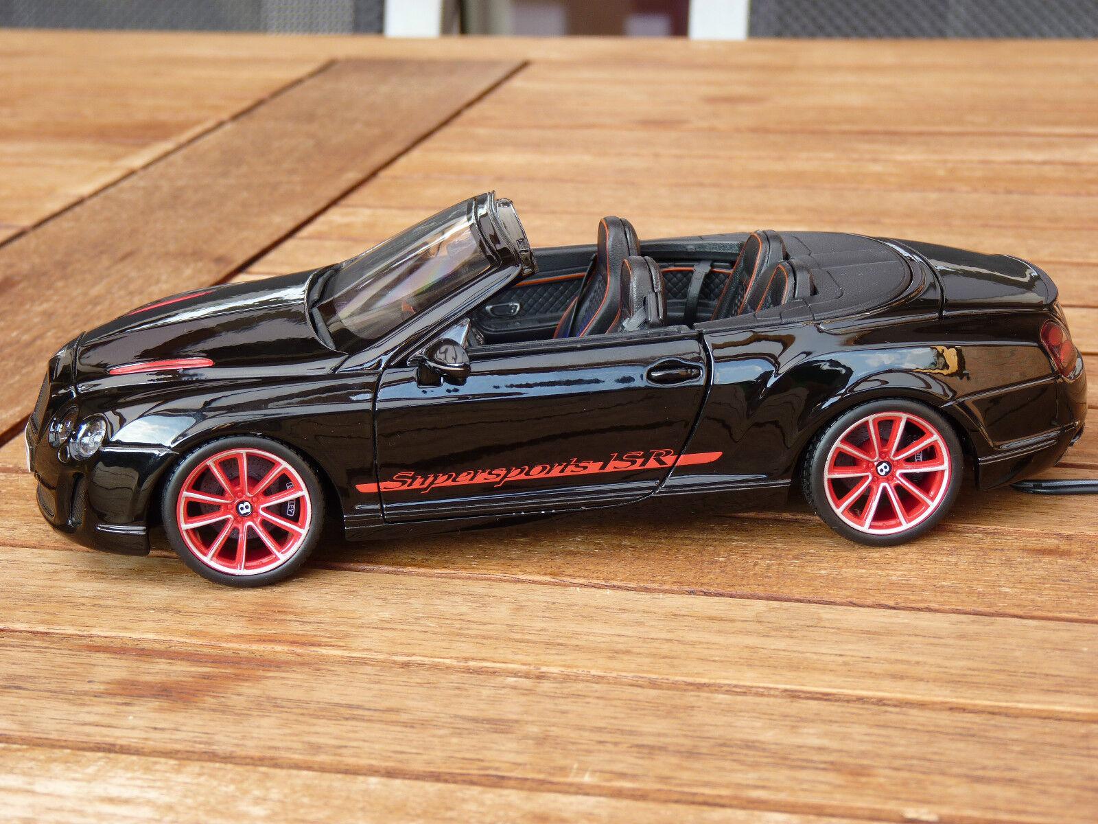Bentley Continental Super puertos isr con iluminación LED LED LED (Xenon) 1 18 negro 9be7a9