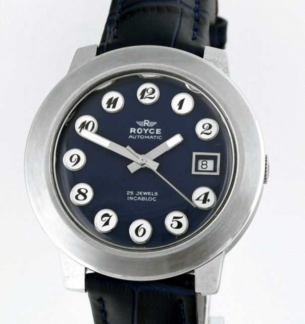 1970's ROYCE Automatic Date Swiss 25 Jewels New Old Stock Vintage Wrist Watch