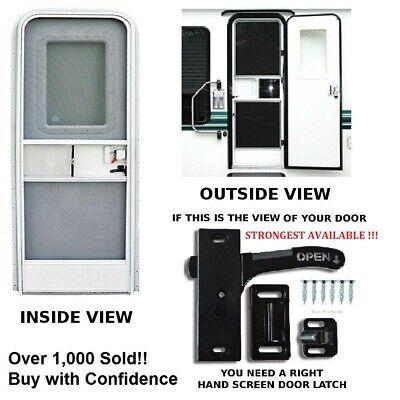 Right Hand RV Designer E285 Amerimax Screen Door Latch Entry Door Hardware