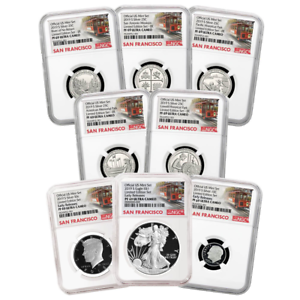 2019-S Limited Edition Silver Proof Set 8pc NGC PF69 Trolley ER Label